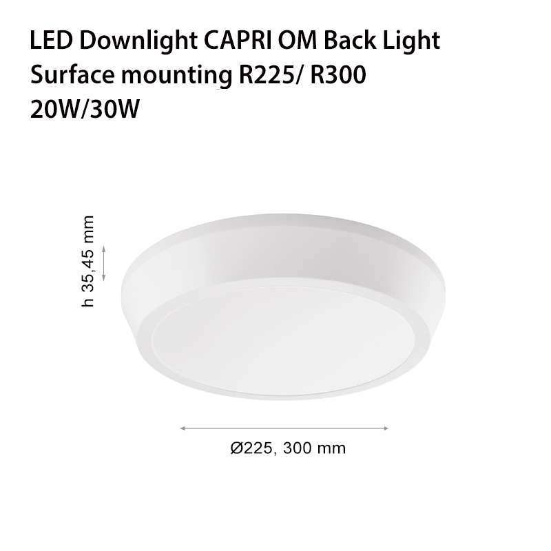 LED ЛУНА CAPRI ОМ BACK LIGHT