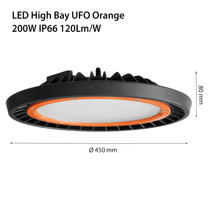 LED ПРОМ. ОСВ. ASTRA UFO ORANGE IP66 120Lm/W