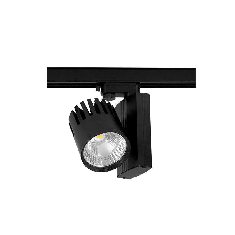 LED TRACK LIGHT METRO PAM 4 WIRE BLACK Flicker-Free