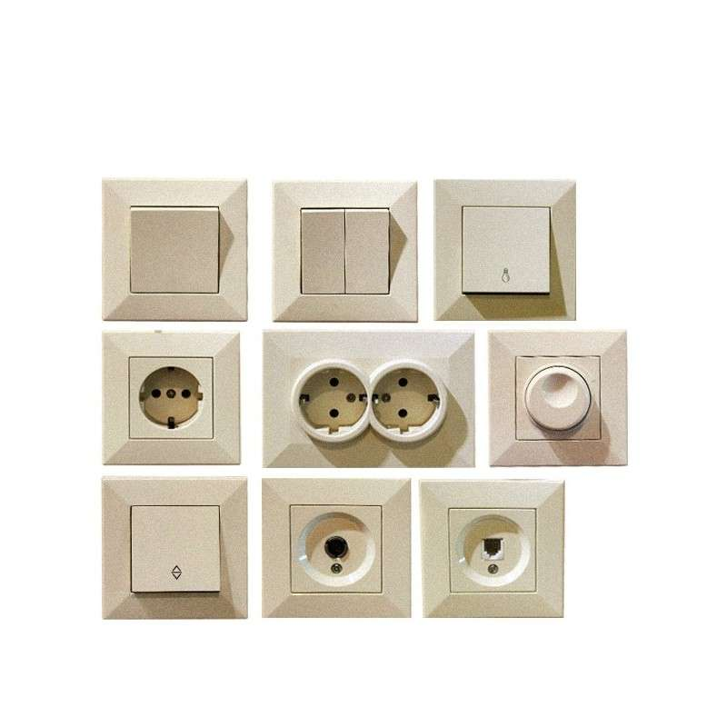 SWITCHES & SOCKETS KEIRA CREAM