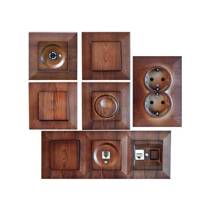 SWITCHES & SOCKETS KEIRA WALNUT