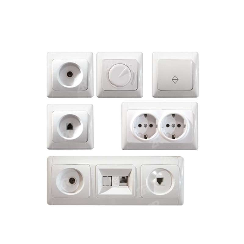 SWITCHES & SOCKETS ALASKA WHITE