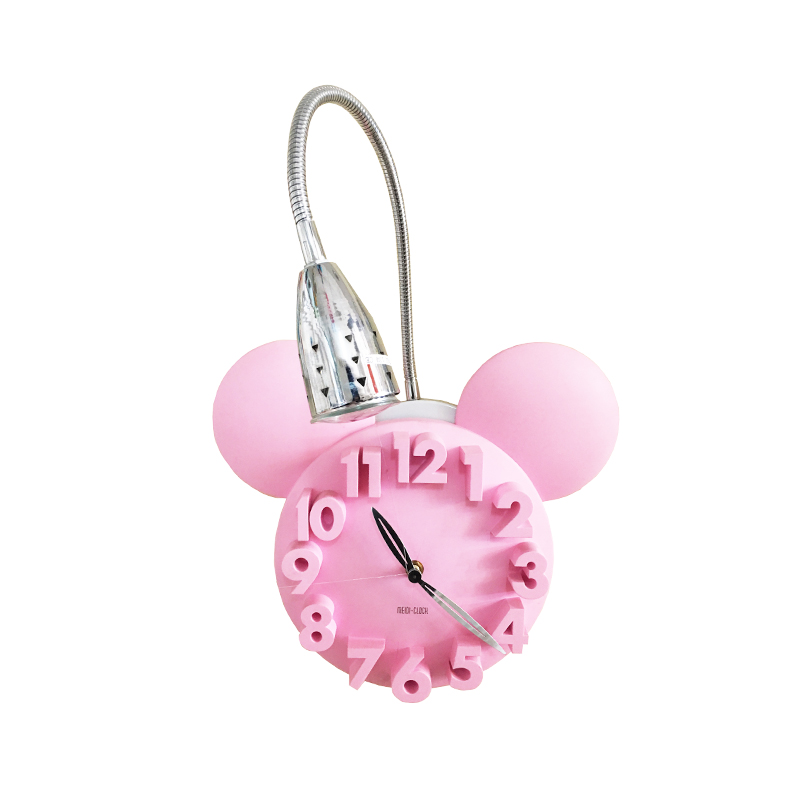 WALL LIGHT PINK CLOCK MB 937-1