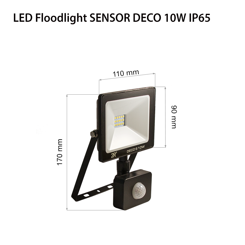 LED Floodlights RECORD DECO IP65 10w sensor