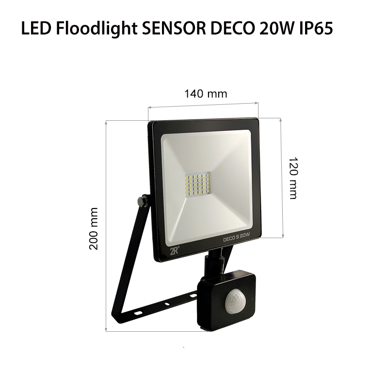 LED Floodlights RECORD DECO IP65 20w sensor