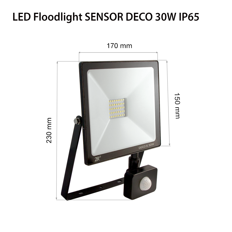 LED Floodlights RECORD DECO IP65 30w sensor