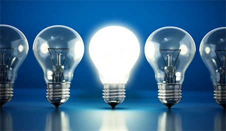 LED lighting is more efficient and more efficient