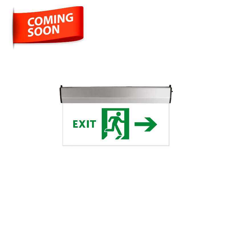 LED EMERGENCY LIGHT EXIT GLASS